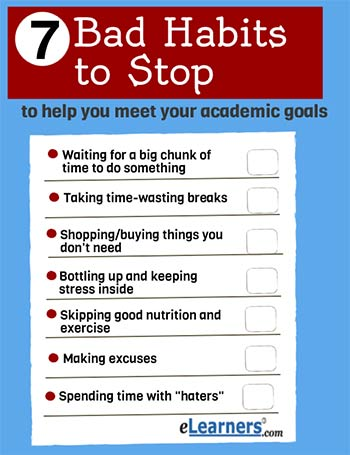 7 bad habits to stop now to help your academic goals