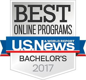 Colorado Technical University received U.S. News and World Report badges for 2017: Best Online Bachelor's Degree Programs, Best for Vets, and Best Online Grad CJ Program.