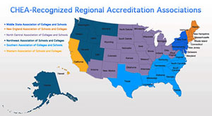 accredited online colleges are accredited by regional bodies