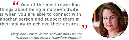 MaryJane Lewitt: Nurse Midwife and Faculty Member at the Emory Midwifery Program