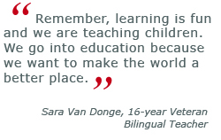 Bilingual Early Childhood Education, Sara Van Donge