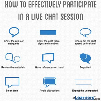 effectively participate in live chat session