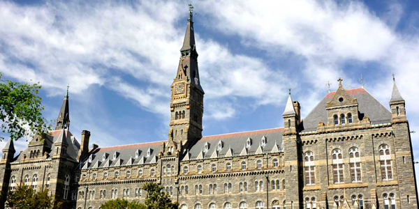 georgetown university online; colleges with sports management programs