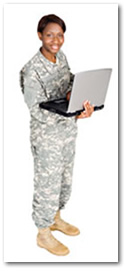 Military students at Keiser University online