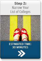 Step 2: Narrow Your List of Colleges