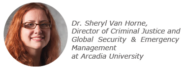 Sheryl Van Horne, criminal justice degrees