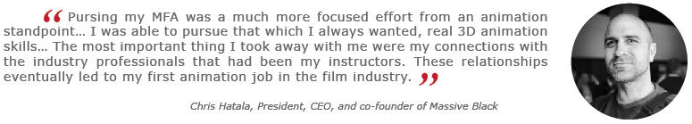 Chris Hatala Quote on MFA Degree