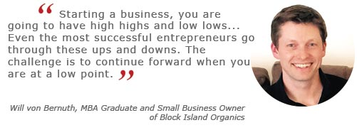 Willem von Bernuth, owner of Block Island Organics, Entrepreneurship
